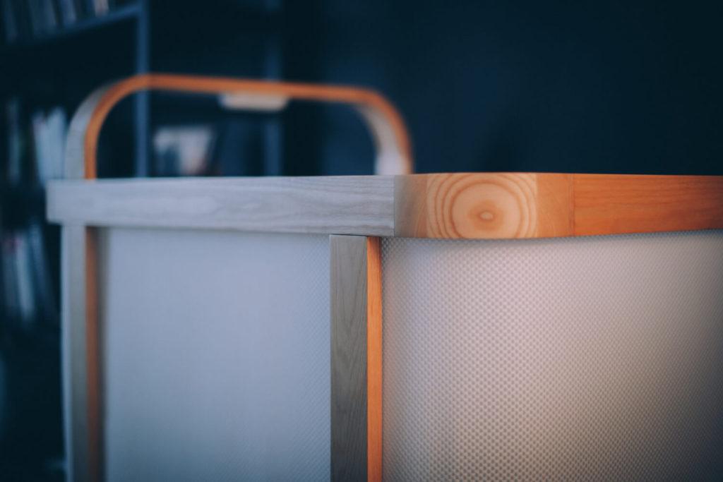 Cradlewise wood mesh closeup