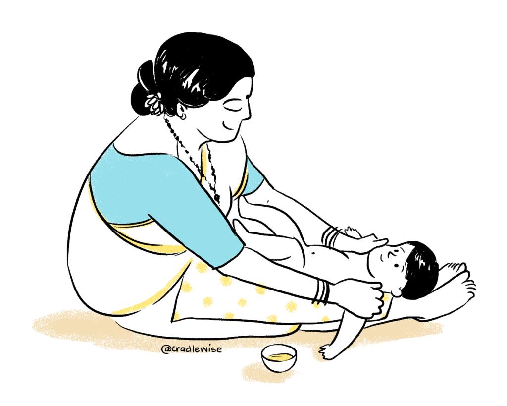 Indian infant massage