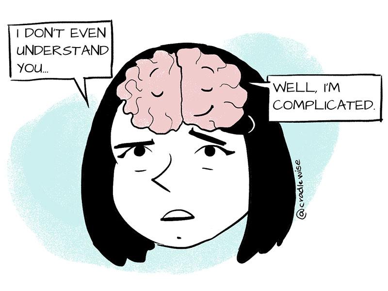 Human brain is complex.